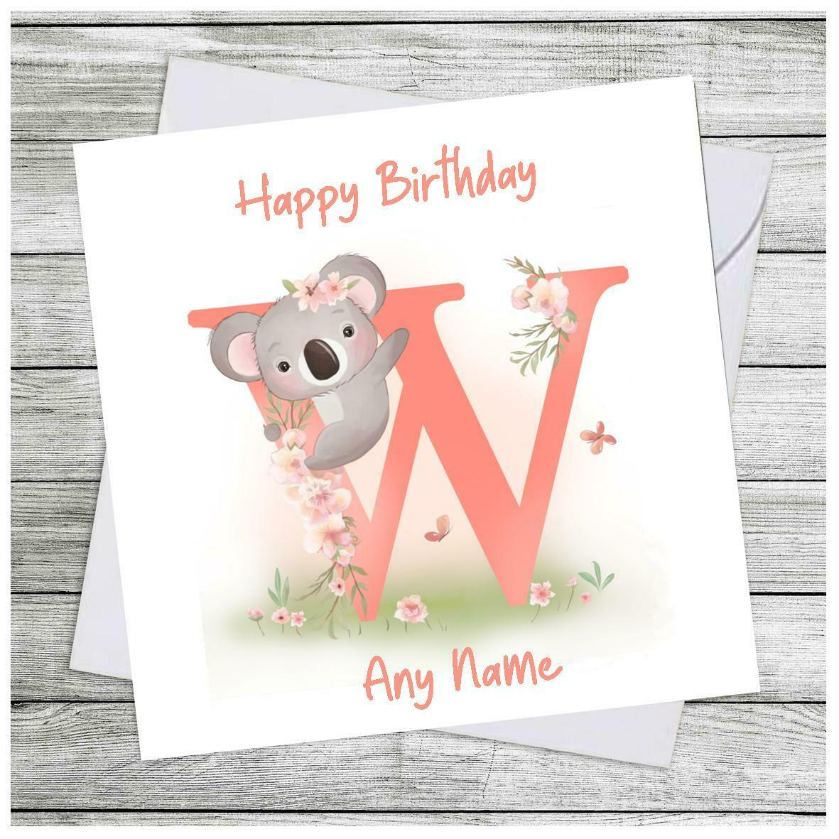 Personalised Birthday Card Daughter Niece Granddaughter Sister Alphabet  Cards