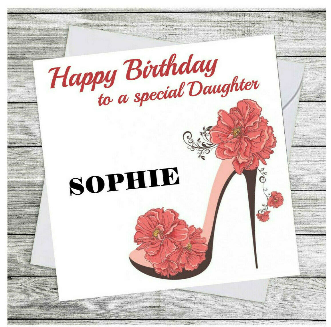 Personalised Birthday Card Daughter Niece Granddaughter Sister Family Cards